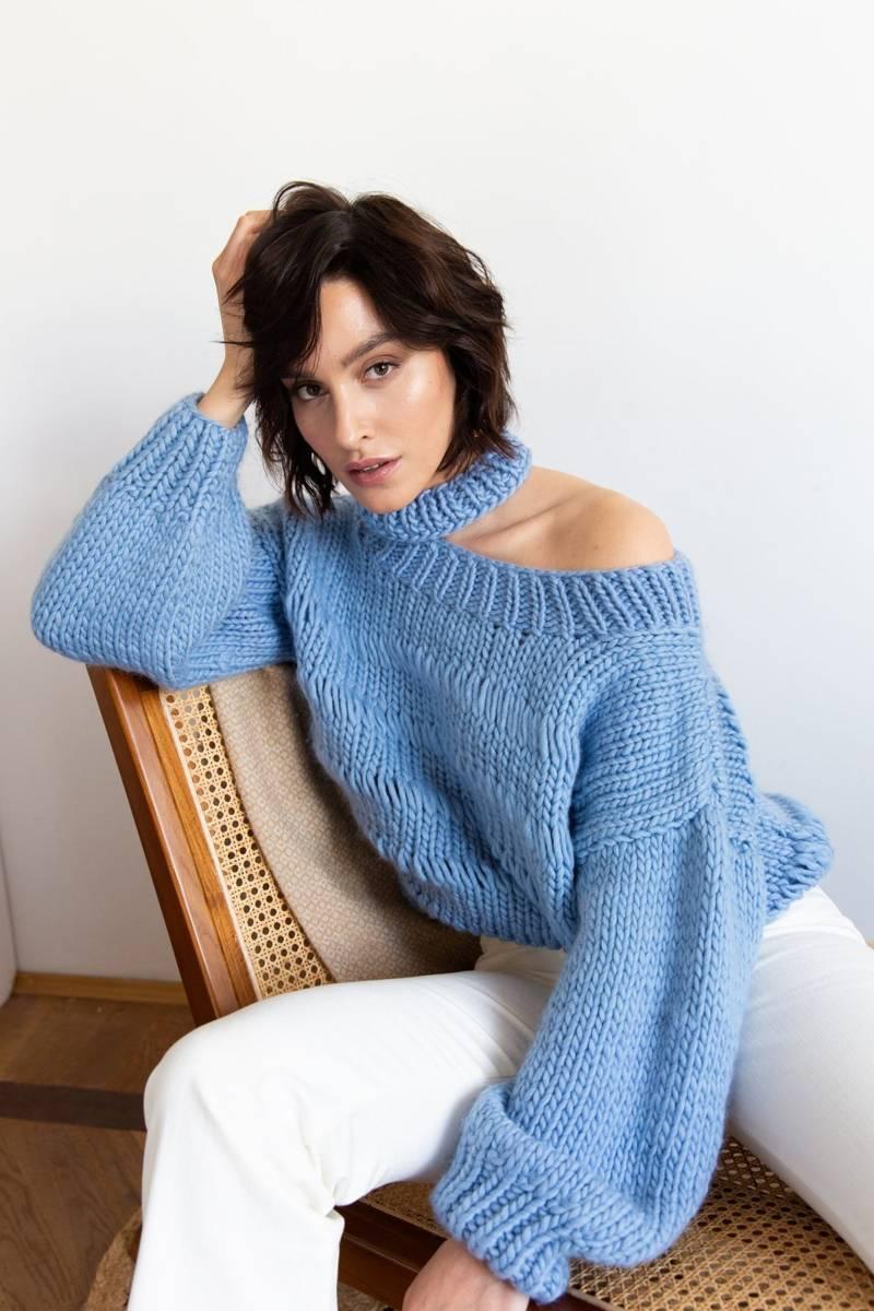 Sweter ALBA niebieski